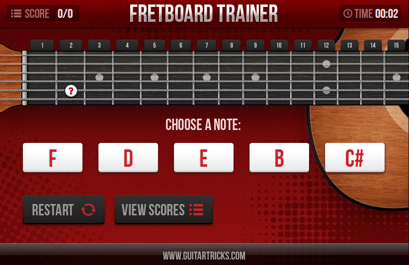 Guitar Tricks Review Chord Fretboard trainer